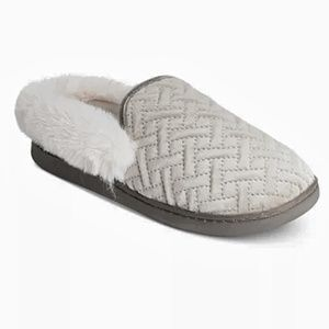 Charter Club Macy's MicroVelour Clog Slippers Grey